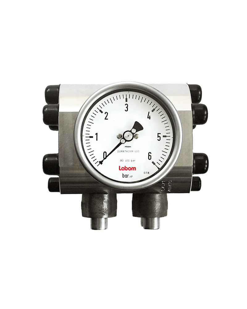 Differential pressure gauge NS 100/ 160, with diaphragm, overload protection - BD3200/BD3300